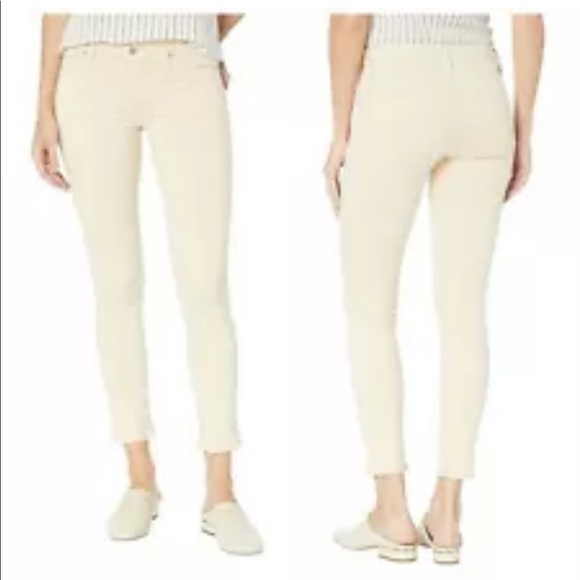 Hudson Jeans Denim - HUDSON TALLY MID-RISE FAWN SKINNY CROPPED JEANS